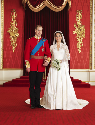 Prince William and Lady Catherine on their wedding day