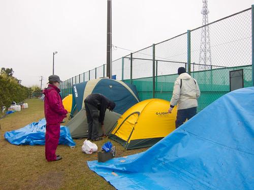Setting the camp at Seshu University