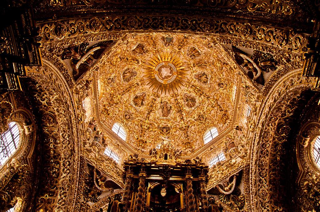 The dome of the Capilla del Rosario, Santo Domingo, Puebla