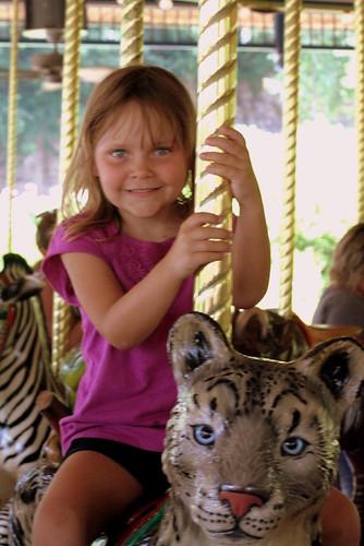 Alyssa on the Carousel