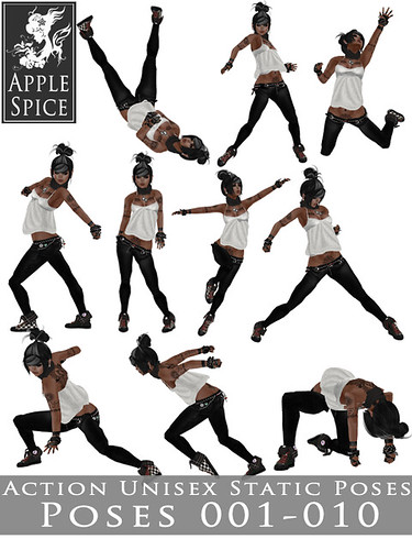 Apple Spice - Action Unisex Static Poses