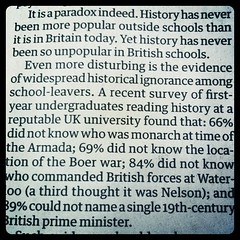 Facts about history education in the UK :-(
