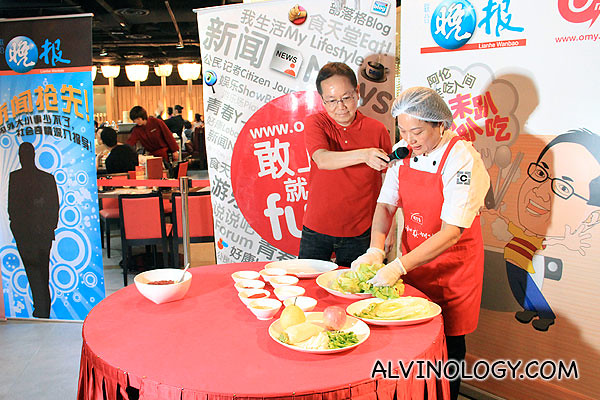 Chef demo on making kimchi