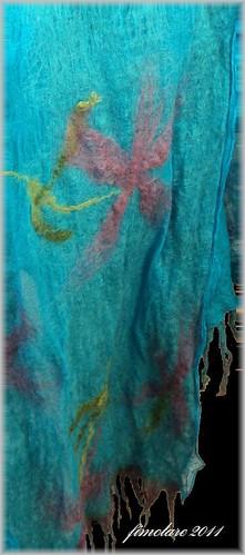 sciarpa turchese