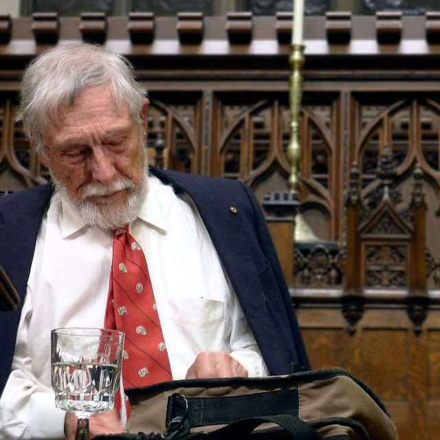 Gary Snyder Signs a Book at Plymouth Congregational