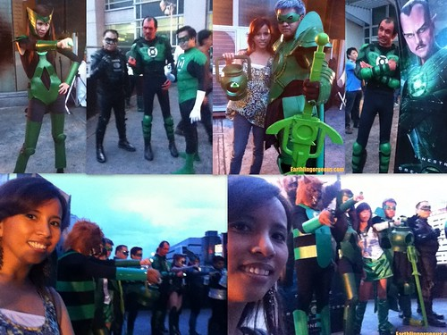 with the Green Lanterns