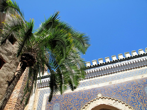Morocco pavilion w/ palm