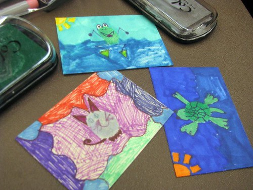 COOL ATC Day:  Thumb Print Art