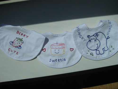 embroidered bibs