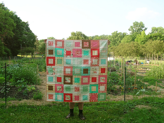Finished squares quilt