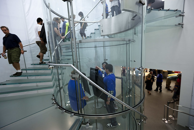 manhattan Archives   danwin com Apple Store staircase Fifth Avenue  Boxed  NYC