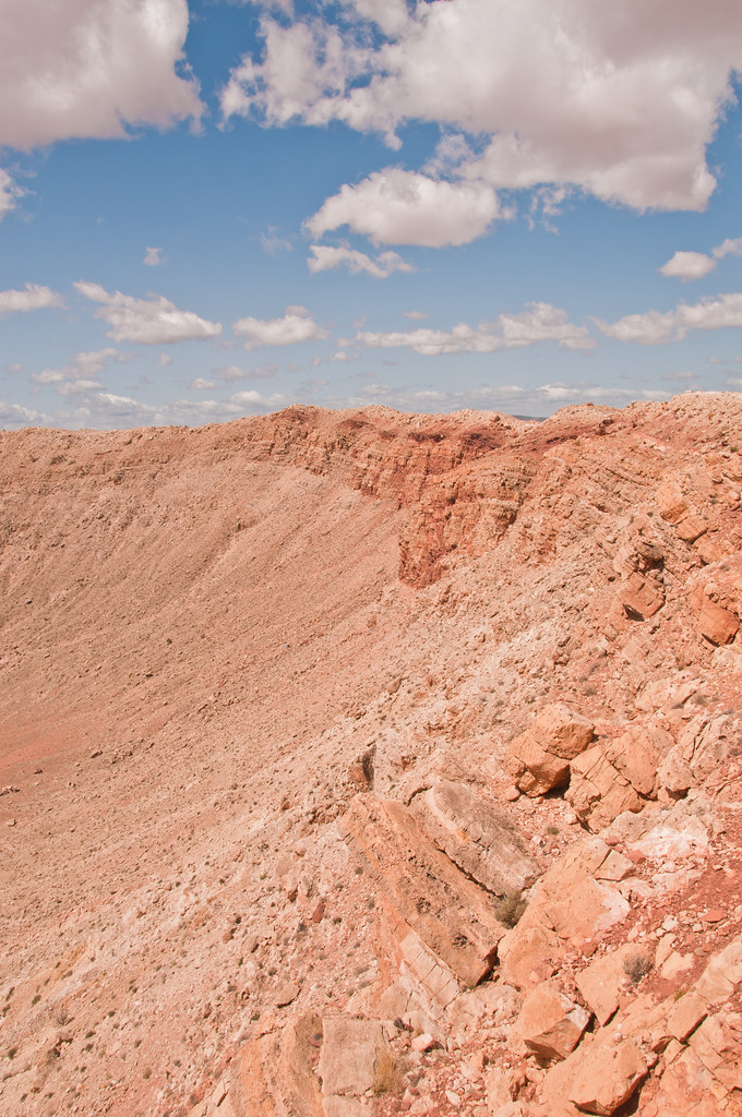 Inner wall of Meteor Crater