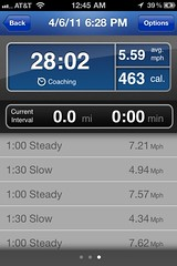 RunKeeper, Session 1, Screen 3
