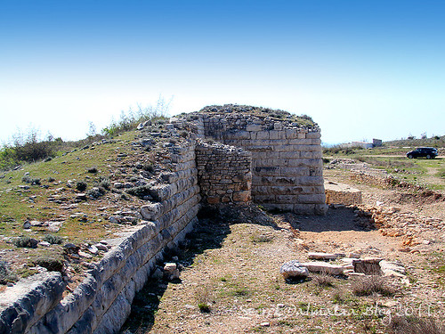 The excavated northern face of Asseria