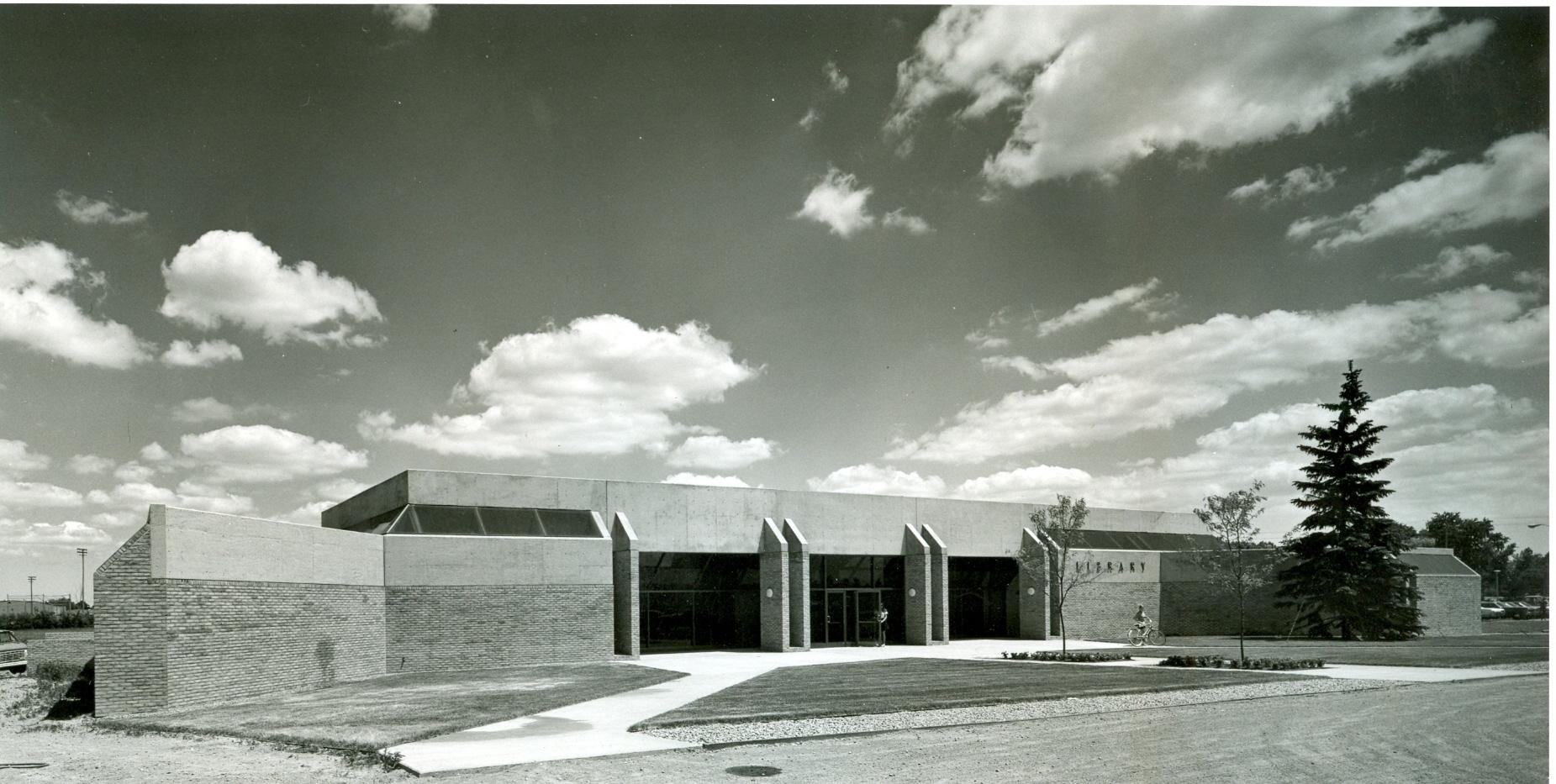 Original Troy Public Library 1971