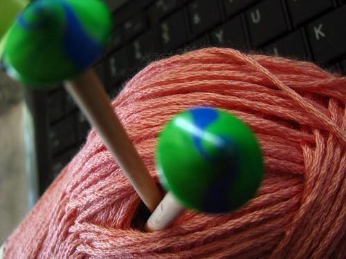 Earth Day Domino Knitting Needles