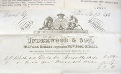 Invoice for Martin M while at school, England 1846