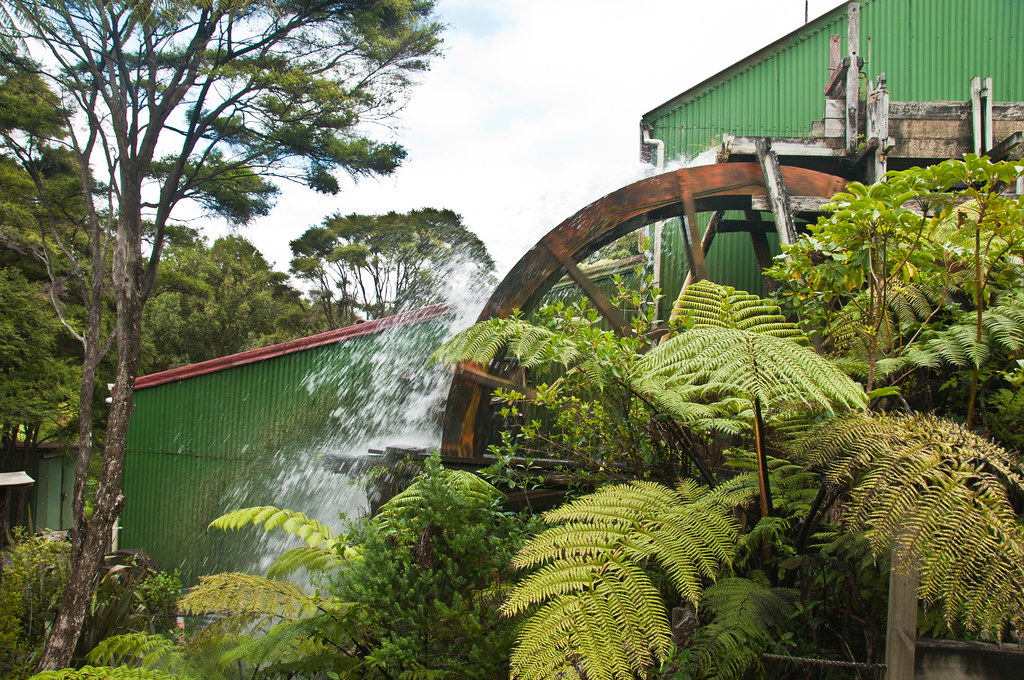 The water wheel at the gold stamper battery