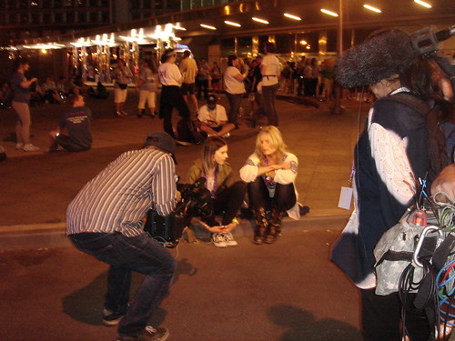 Mariel Hemingway and her daughter at The Overnight Walk, NYC, 6/4-5/11