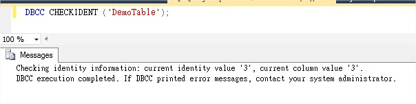 TSQL Reseed Auto-increment Number