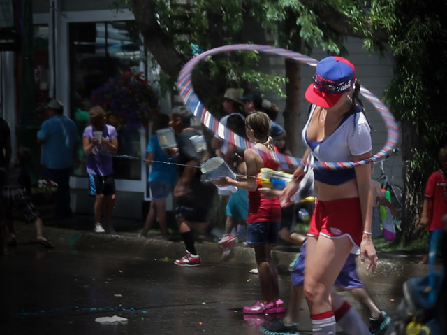 Hula Hoop Girl - Crested Butte 4th of July