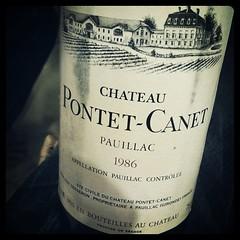 Chateau Pontet-Canet 1986