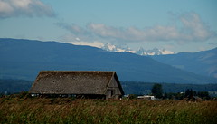 Mountains and Barn