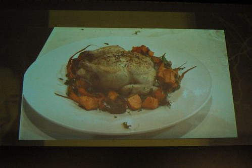 Tobie Puttock's Macro chicken cooked in milk with sage & lemon - plated with roast veggies