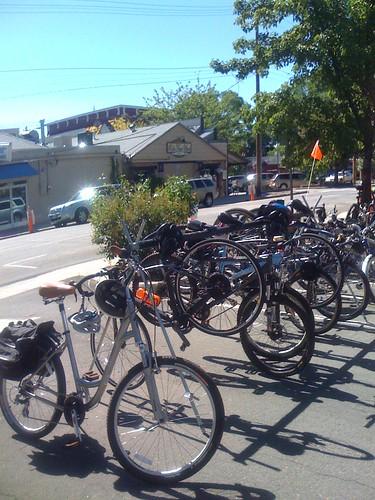 Bikes at the 3rd Street Farmers Market