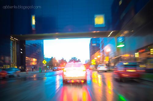 rainy dusky streets under the guthrie by ajbbents