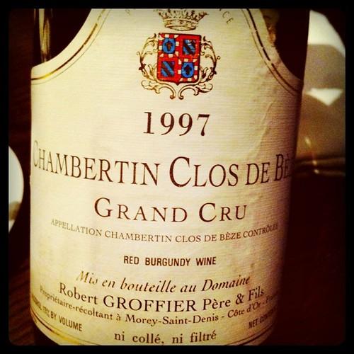 Robert Groffier Chambertin Clos de Beze 1997
