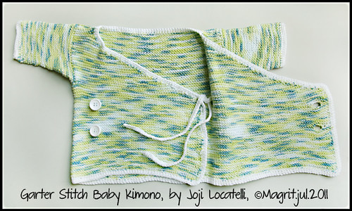 garter stitch baby kimono 2