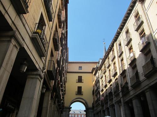 Acceso Plaza Mayor. Madrid