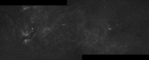 SH2-101  + IC1318 Mosaic (on black)