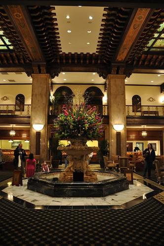 Fountain at Peabody Hotel Memphis TN