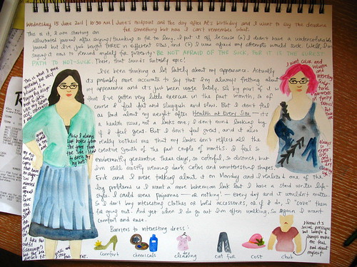Illustrated journal entry, 6/15/11