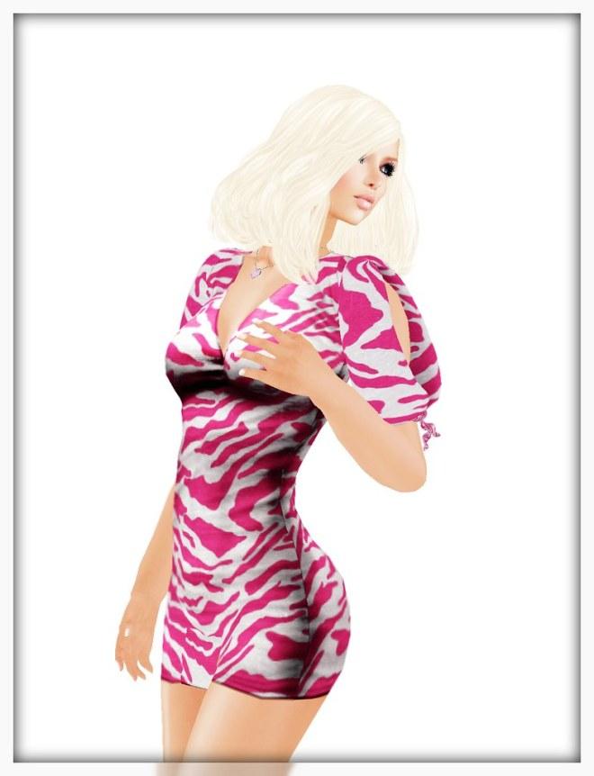 ::HH:: Hucci CS Dress - Pink Zebra