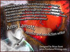 Anne Lamott, novelist and writer