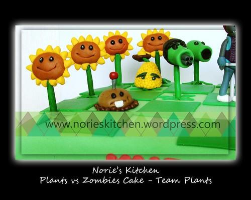Norie's Kitchen - Plants vs Zombies Cake 5 - Team Plants