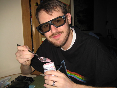 Craig with 3D glasses after Tron