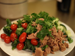 spinach, tuna & white bean salad (1/2)