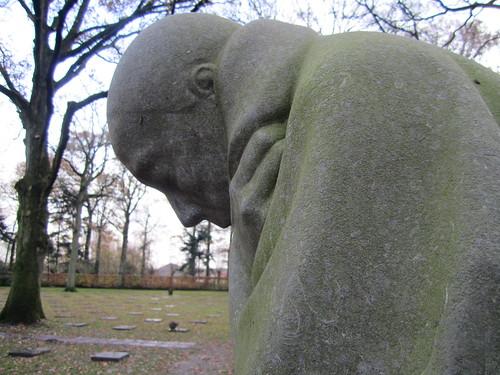 Close Up of Kathe Kollwitz Sculpture