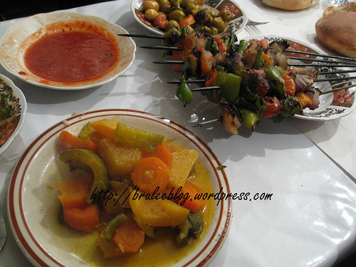 tagine and brochettes/kebabs