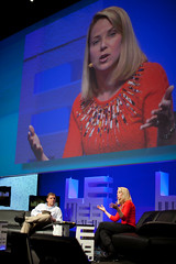 Marissa Mayer and Mike Arrington at LeWeb 2010