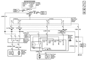 Power window switch wiring diagram
