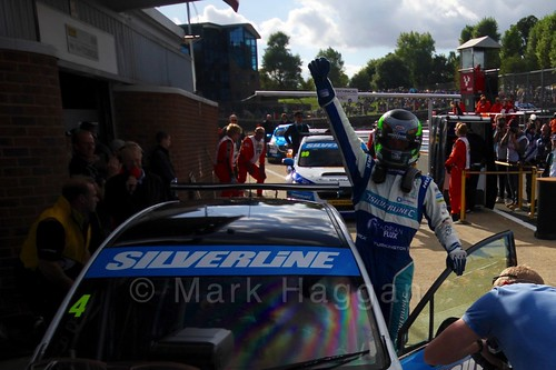 Colin Turkington celebrates his win during the BTCC Brands Hatch Finale Weekend October 2016