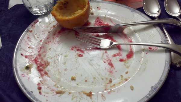 Empty Thanksgiving Plate