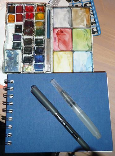 nanodrawmo sketchbook