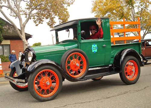 Car in the Solvang Christmas Parade, Dec 4th