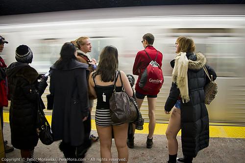2011 No Pants Subway Ride: Train